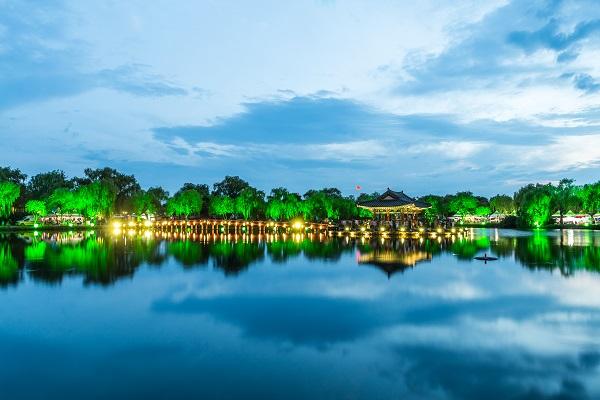 Sunset at Buyeo Gungnamji Pond