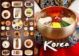 한식 상차림과 비빔밥 포스터