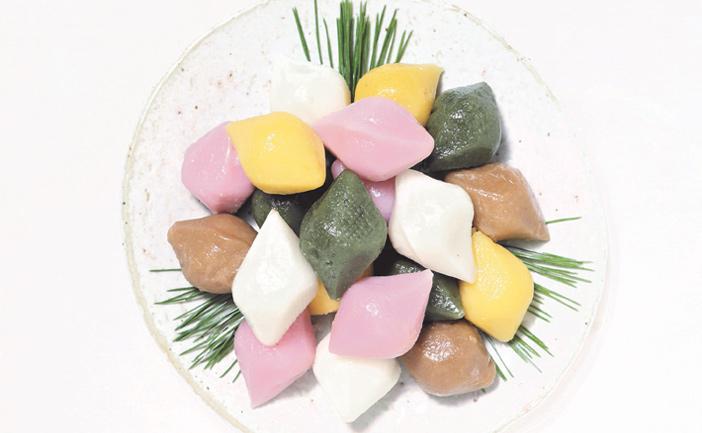 Разноцветные сонпхён (Источник: Фонд корейской кухни хансик)