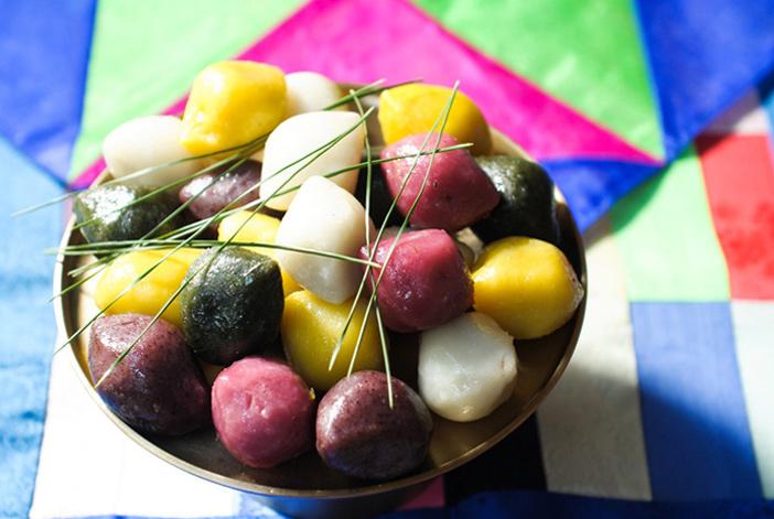 <em>Songpyeon</em>, el pastelillo de arroz típico de Chuseok.