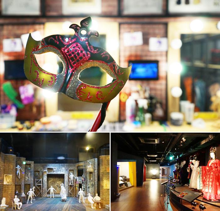 El museo cuenta con hermosos disfraces y escenografia de todo tipo.