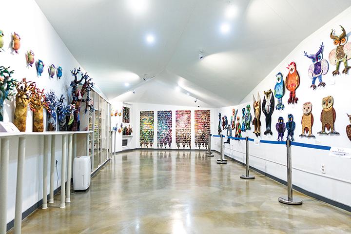 부엉이 박물관 내부 전시관
