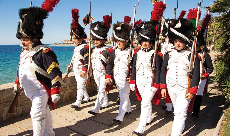 나폴레옹의 고향 프랑스 코르시카섬에서는 그의 생일에 맞춰 다양한 이벤트가 열린다