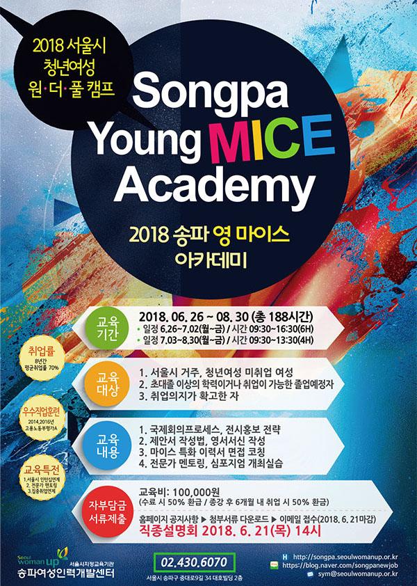 2018 서울시 청년여성 원.더.풀 캠프 Songpa Young MICE Academy(2018 송파 영 마이스 아카데미)
