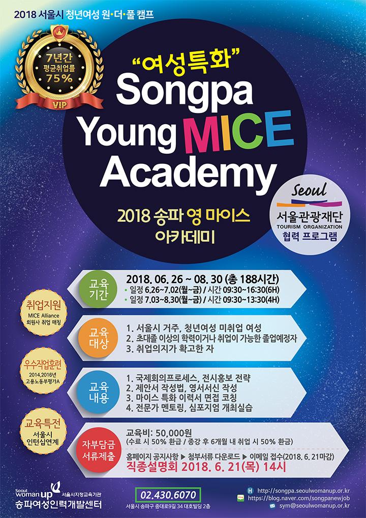 """2018 서울시 청년여성 원.더.풀 캠프 """"여성특화"""" Songpa Young MICE Academy"""