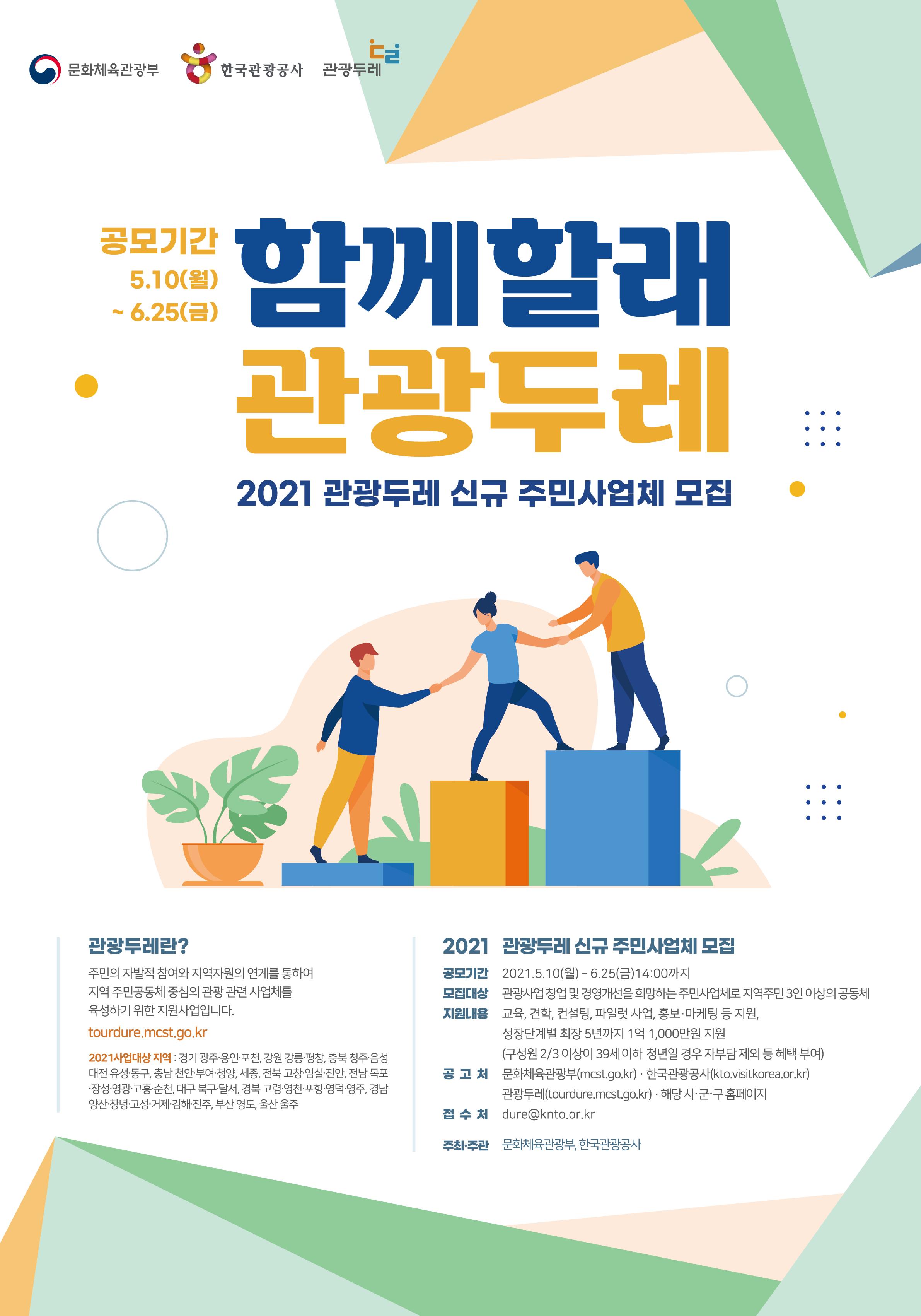 2020 관광두레사업 주민사업체 모집 - 함께할래? 관광두레!