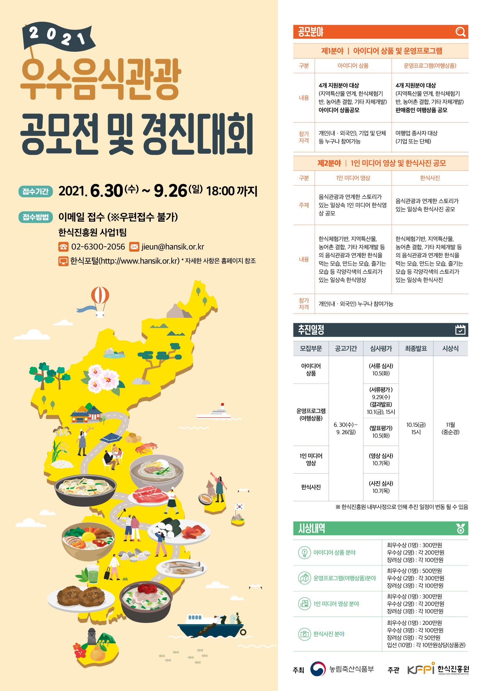 2021우수음식관광공모전및경진대회