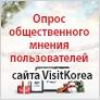 Опрос общественного мнения пользователей сайта VisitKorea