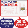 Coupon de réduction Simcard-Korea
