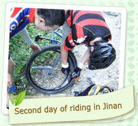 Second day of riding in Jinan