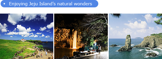 Enjoying Jeju Island's natural wonders