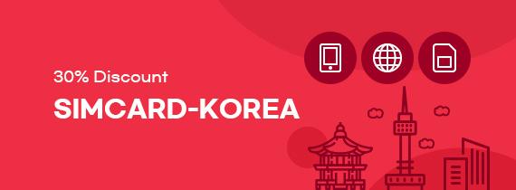 Rabattcoupon Simcard-Korea