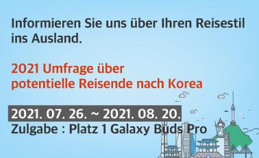2021 Umfrage über potentielle Reisende nach Korea