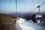 스키장에서 스키..