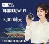 韩国移动Wi-Fi  3000韩元