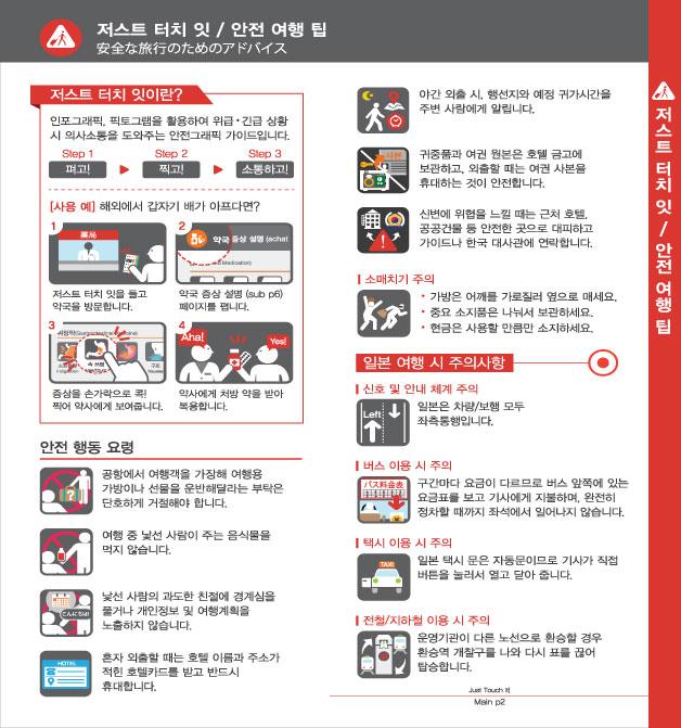 1. 터치 잇 페이퍼 / 안전 여행 팁, 자세한 내용은 하단링크의  TOUCH IT PAPER 일본어 PDF 파일을 참조하시기 바랍니다.