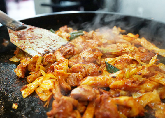 Image result for chuncheon market dakgalbi