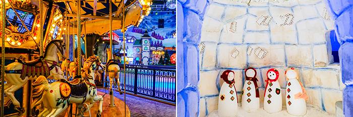 圖片) 讓人聯想到童話世界的冰雪樂園內部(左圖) / Onemount聖誕冰屋(右圖)